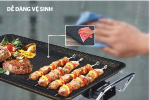 Bếp nướng điện giá rẻ của hãng sunhouse luôn là lựa chọn tuyệt vời vì khi nướng rất dễ dàng vệ sinh lau chùi