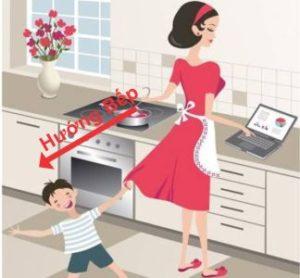 Cách tính hướng bếp đúng