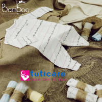 bộ quần áo trẻ sơ sinh dễ thương màu trắng với họa tiết ngộ nghĩnh của bamboo lil