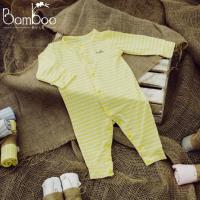 quần áo trẻ sơ sinh màu vàng sọc trắng của bamboo lil tạo cho bé sự năng động tự tin