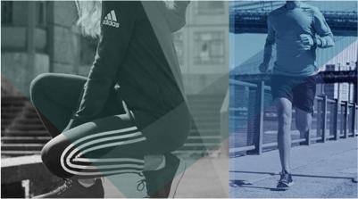 một mẫu áp phích quảng cáo quần áo thể thao nam nữ cao cấp của Adidas