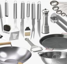 thép không gỉ là loại vật liệu được sử dụng để chế tạo nên các loại dụng cụ nhà bếp rất thông dụng nhất ngày nay