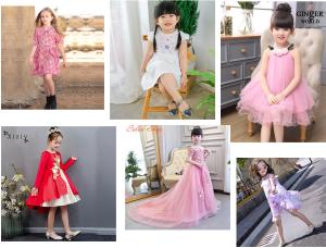 váy đầm trẻ em cao cấp tại các trang bán hàng trực tuyến nổi tiếng ở Việt Nam