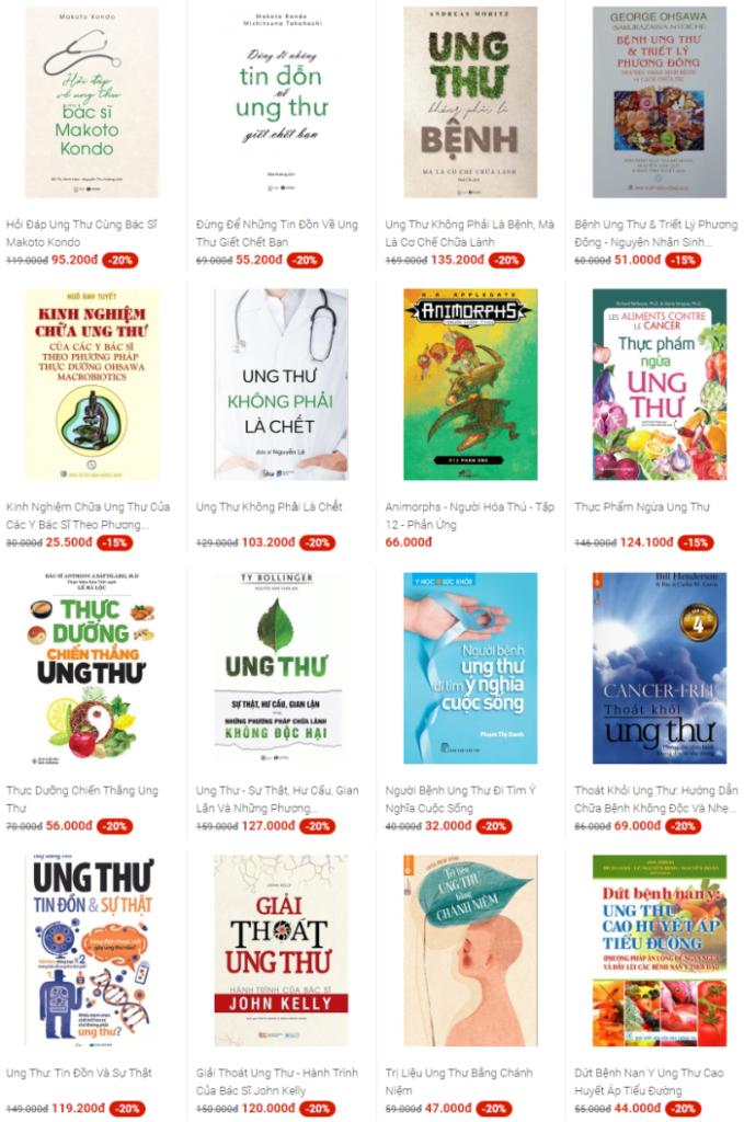 Các quyển sách hay về kiến thức các bệnh ung thư bạn cần xem