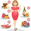 bà bầu không nên ăn những thực phẩm gây nguy hại sức khỏe sau đây : trứng sống, rượu, cà phê...
